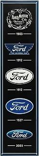 Open Road Brands Ford Logo Evolution Embossed Metal Sign