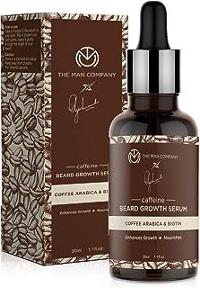 The Man Company Coffee Beard Growth Serum with Coffee Arabica & Biotin for Faster Growth | 100% Natural | for beard softne...