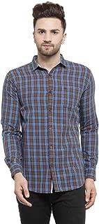 MAFATLAL Men's Checkered Long Sleeve Casual Shirt