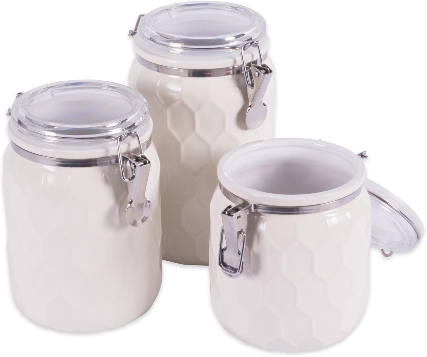 DII 3-Piece Max 66% OFF Modern Honeycomb Half Ca Kitchen Challenge the lowest price Glaze Matte Ceramic