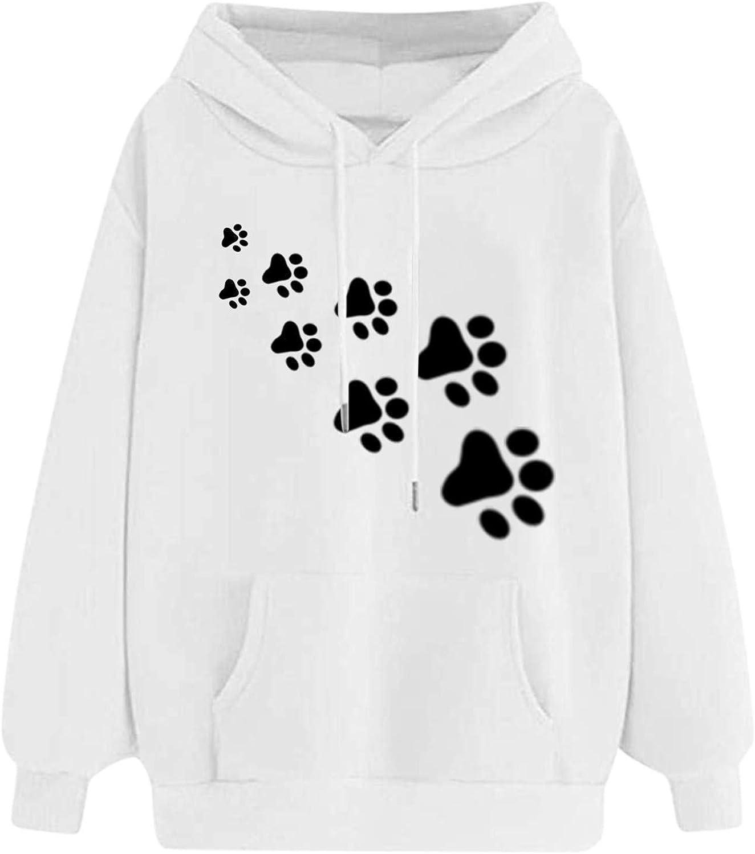 Lingbing Sweatshirts for Women,Teen Girls Sweatshirts Printed Cute Hoodies Casual Long Sleeve Loose Hooded Pullover Tops
