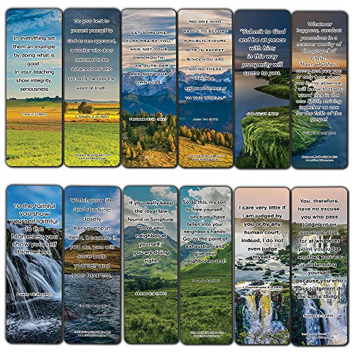 Become The Best Version of Yourself Bible Bookmarks (30-Pack) - Stocking Stuffers Devotional Bible Study - Church Ministry Supplies Teacher Classroom Incentive Gifts
