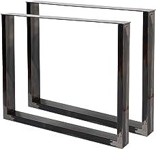 WilTec Industriële vierkante tafelpoten helder vernis 40x43cm voor tafels banken en bureaus