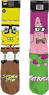 90's Nickelodeon Cartoon Crazy Novelty Crew Socks - SpongeBob and Patrick