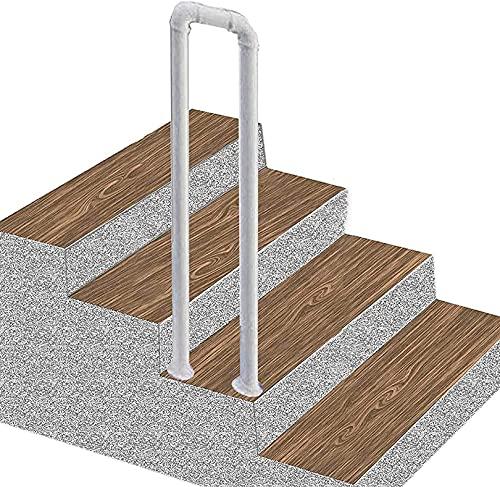 LYP Barandilla de Escalera Antideslizante en Forma de U, para escalones Exteriores o pasamanos de Escalera Interior, barandilla de Hierro para terraza de Porche Tipo Loft, 35-100 cm, 1 Paquete (