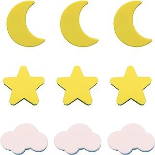 MHwan Lade knoppen kinderen, deurknoppen kinderen, kinderen PVC zachte lade knoppen handgrepen schattige ster maan wolken ...