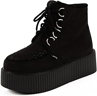 RoseG Scarpe da Donna High Stivali Polacchine Top Creepers