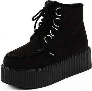 Mujer Polacchine Zapatos Plataforma Botas Cordones