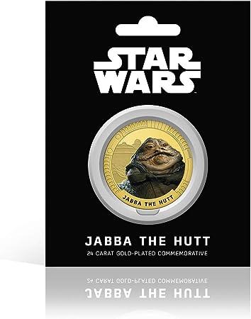 IMPACTO COLECCIONABLES Star Wars Münze - Episode IV - VI Original-Trilogie - Jabba - Limitierte Auflage sammelbare Gold-Gedenkmünze / Medaille
