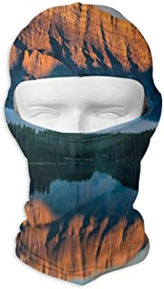 GREEDCLOUD Card with Eiffel Tower On A Rainbow Background Full Face Masks UV Balaclava Hood Ski Mask Motorcycle Neck Warmer Tactical Hood for Cycling Outdoor Sports Snowboard