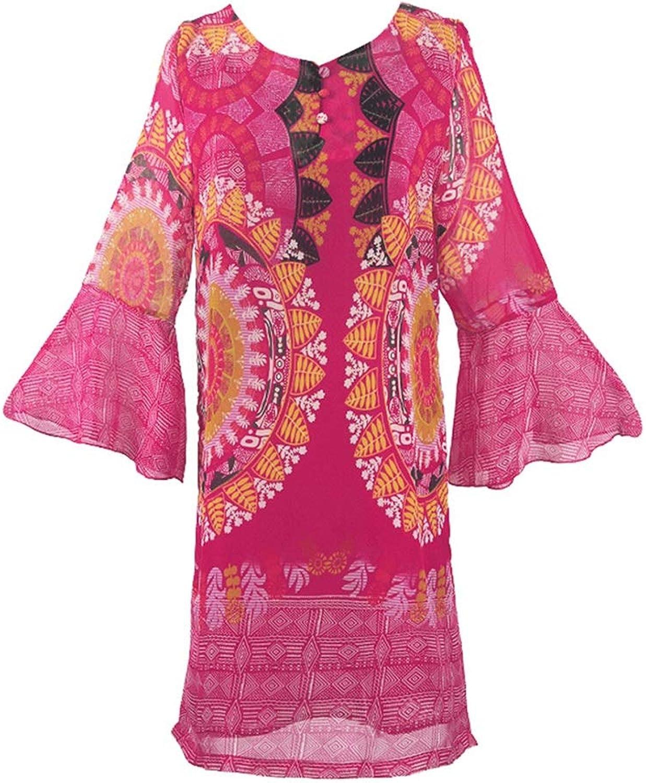 Clothing & Accessories Women Dresses Casual Ladies Beach Dress Outdoor Seaside Resort Dress Bohemian Dress Summer Beach Dress Pool Party Dress Island Skirt Cropped Sleeve Skirt