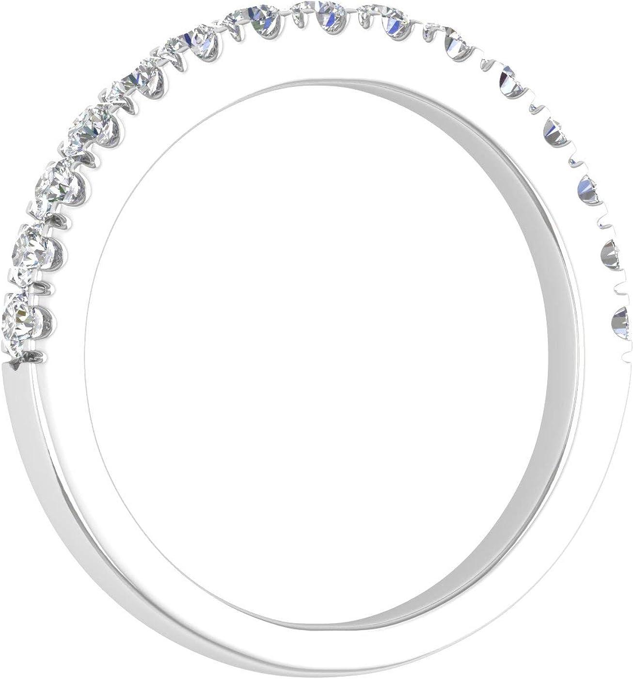 1/2 Carat Diamond Wedding Band Ring in 14K Gold