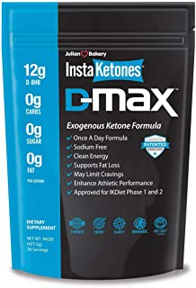 Sponsored Ad - Julian Bakery InstaKetones® D-MAX® 12g D-BHB (Near Flavorless) (Once A Day) Exogenous Ketones (30 Servings)