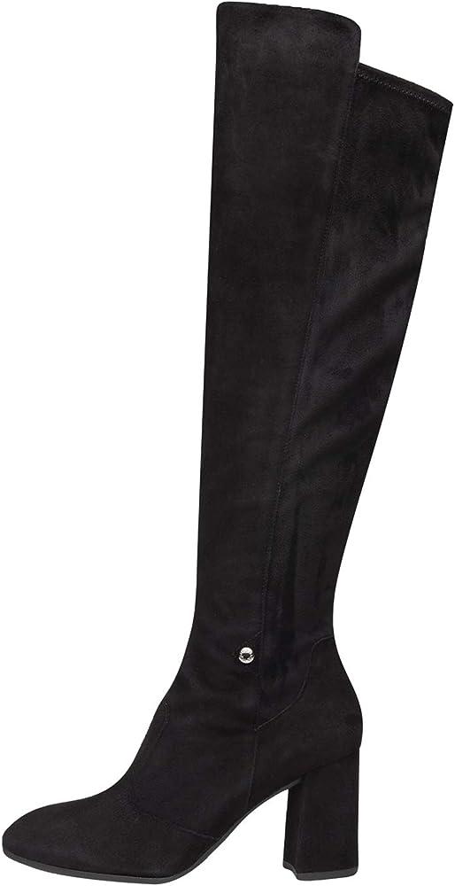 Nero giardini ,stivali per donna in camoscio A909435DE 100
