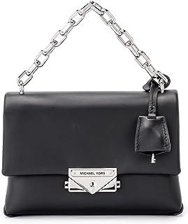 Michael Kors Woman's Michael Kors Cece Xs Black Leather Shoulder Bag Black