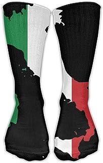 Calcetines tobilleros unisex con diseño de la bandera de Italia para zapatos de talla 6-10