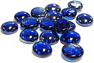 CYS EXCEL B00KHX0EXS Vase Filler Gem Glass Confetti, Table Scatters, Cobalt Blue, 5 lbs, Approximately 500 pcs (GGM001B-5B), Stone