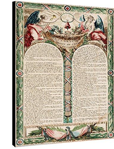 Deco-idees Kunstdruck Foto auf Leinwand und, Holzrahmen, Die von & # X301; Erklärung der Menschenrechte und des Bürgers 1793, Herstellung 100% Französische, 30 x 30 cm