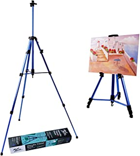 Mont Marte Artist Easel Display Easel Stand, Metal Tripod Stand Easel for Painting&Displaying-Blue