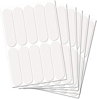 B REFLECTIVE,  (6 Pack) 10 retro reflective stickers kit,  Night high visibility safety,  Universal adhesive for Bike/Stroller/Buggy/Helmet/motorcycle/Scooter/Toys,  7 x 1, 8 cm,  white