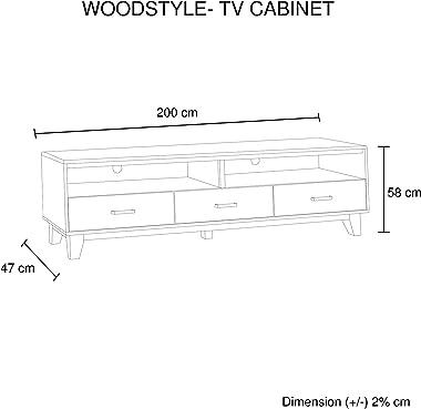 Woodstyle TV Unit 2 Drawers