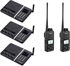 FTAN30A Wireless Intercom System with 2200mAh Battery Call Function Baby and Elder Monitor (3 Packs) + 20 Channel 2 Way Radio GMRS Walkie Talkie UHF 400-470MHz with Group Function (2 Packs)