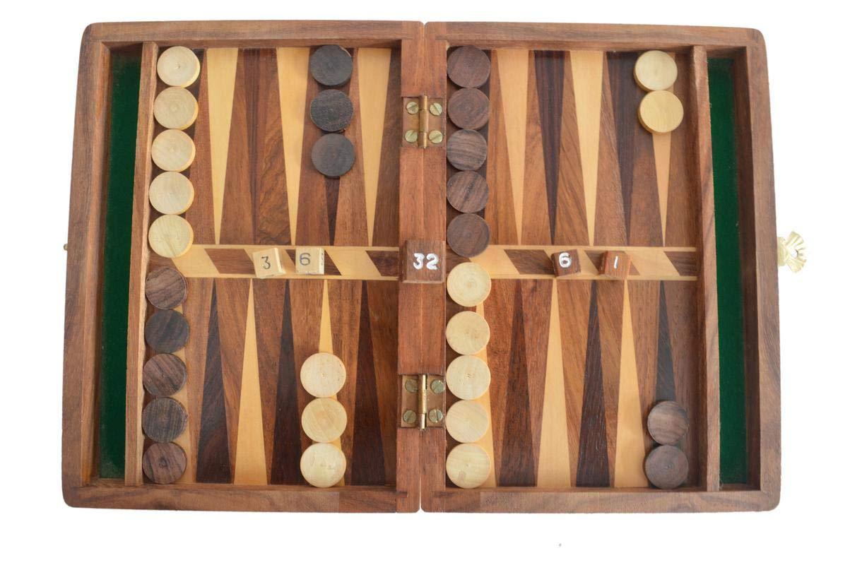 Top Backgammon Set – Caja de Juego de Mesa clásica – Mejor Estrategia y guía de Consejos: Amazon.es: Hogar