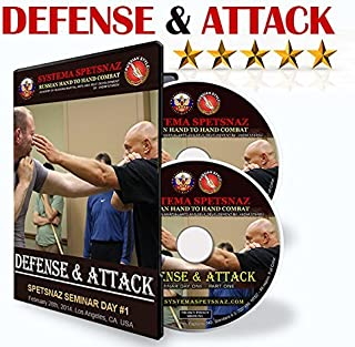 Russian Martial Arts DVDs – Defense and Attack 2 DVD set - Martial Art Instructional Videos by Systema Spetsnaz – Russian Hand to Hand Combat