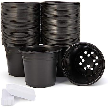 10 Pcs 1//2//3//5 Gallon Plastic Grow Pots Plant Bonsai Square Garden Container US