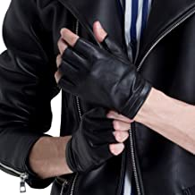 CHULRITA Men's Leather Driving Gloves