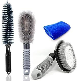 Bingcute Car Wheels Cleaning Brush, Soft Bristle & No Scratches Car Rim Brush Detailing Brushes Reaching Deep Cleaner Tool...