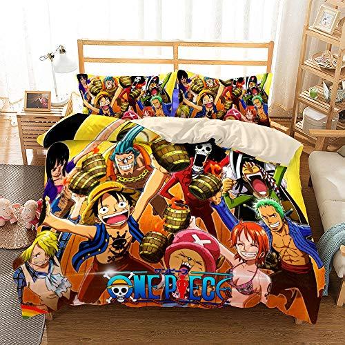Juego de funda nórdica, juego de ropa de cama con estampado de arte digital de estilo japonés, 2 fundas de almohada, funda de edredón de microfibra ultra suave con cierre de cremallera-# 14_SUPER REY