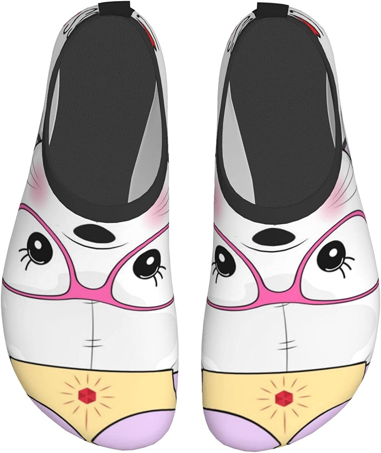 Lovely Princess Cat Mens Womens Aqua Socks Quick Dry Barefoot Swim Beach Shoes for Pool Yoga Surfs Exercise Water Shoes