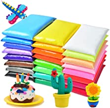 24 Colors Modeling Clay,DIY Air Dry Clay with Tools,Best Gifts for Kids