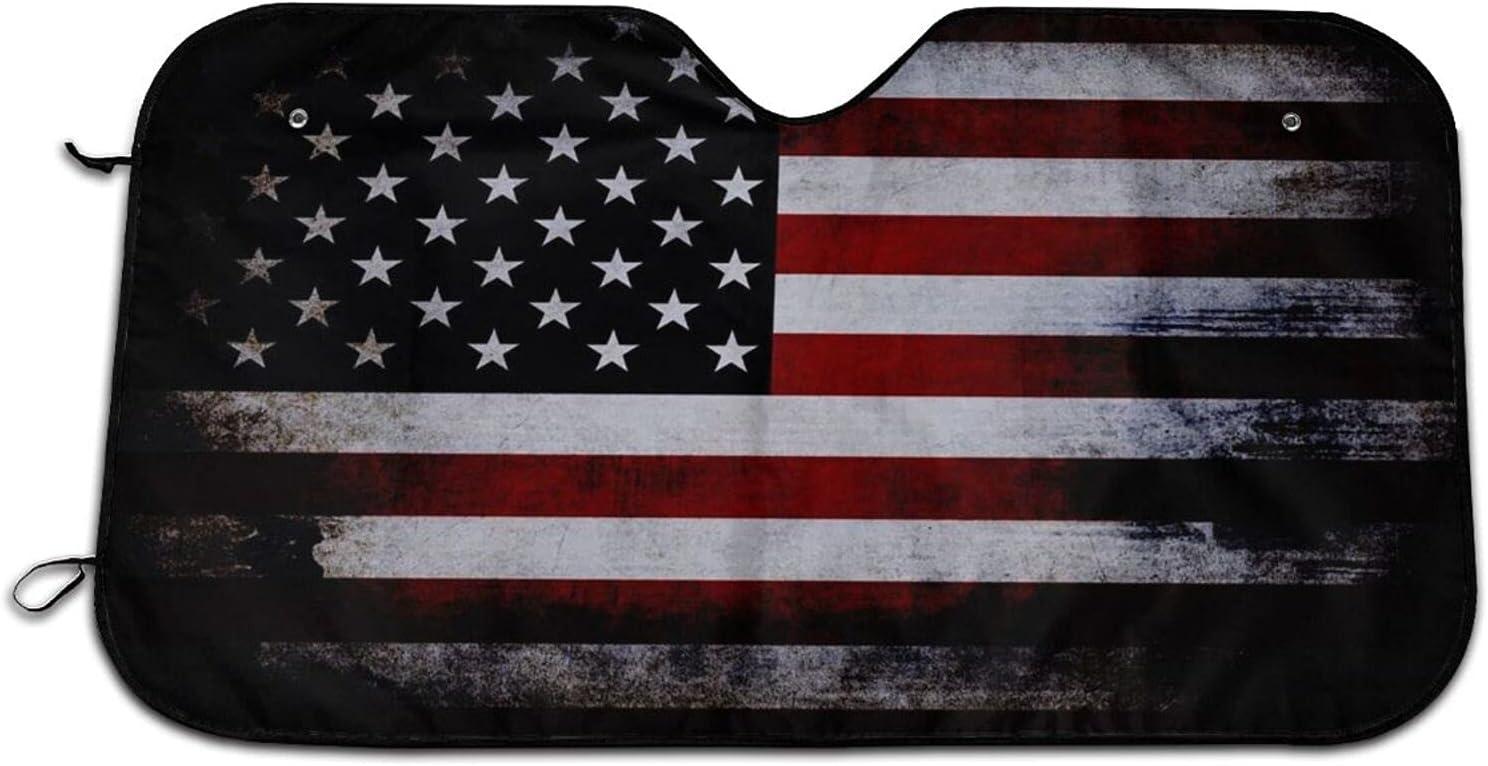American Max 45% OFF Flag Car Windshield Curtains Rapid rise Blocks Shade Sun Rays Uv