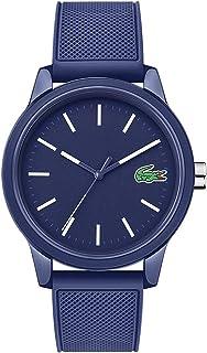 Men's L.12.12. Quartz TR90 Case and Rubber Strap Casual Watch, Color: Blue (Model: 2010987)