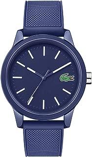 Lacoste Men's TR90 Japanese Quartz Watch with Rubber Strap, Blue, 18 (Model: 2010987)