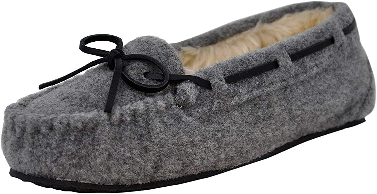Minnetonka Wouomo Ctuttiy Slipper (10.5 M US, Light grigio)