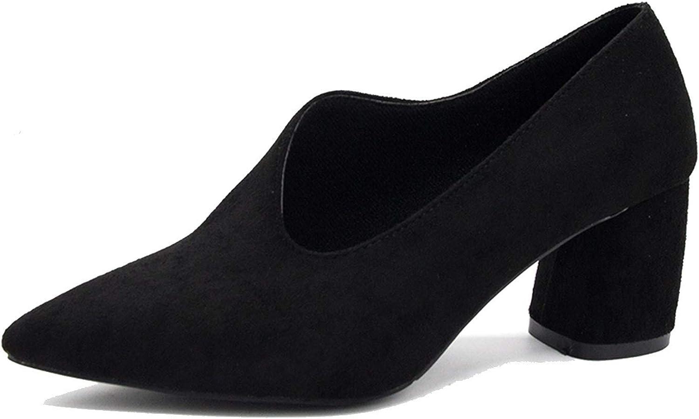 shoes 6.5 cm Square Heel sexypumps women High Heel Chaussure Q540