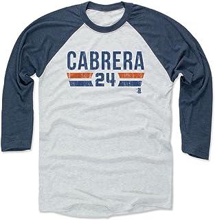 500 LEVEL Miguel Cabrera Baseball Tee Shirt - Detroit Baseball Raglan Shirt - Miguel Cabrera Font