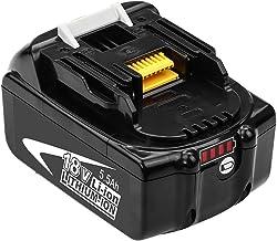 GatoPower BL1860B 5.5Ah Repuesto para Makita 18V Batería de Lítio-Ion BL1860 BL1850B BL1850 BL1830 BL1835 BL1845 BL1815 LXT-400 con indicador LED Taladro Inalambrico Herramientas eléctricas