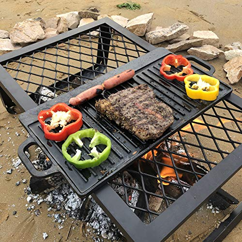 ZORMY Cast Iron Reversible Grill/Griddle