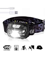 LEDヘッドランプ USB充電式ヘッドライト センサー 高輝度調節 防水軽量 登山/サイクリング/夜釣り/屋 外の緊急照明防災 停電用ヘッドランプに使用されます ジェスチャーセンシングヘッドライト