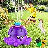 FOSUBOO Sprinkler for Kids (Purple Octopus)