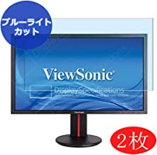 "【2 Pack】 Synvy Anti Blue Light Screen Protector for ViewSonic VG2401 / VG2401mh-2 24"" Display Monitor Screen Film Protecti..."