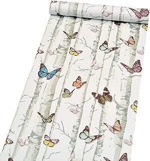 Creative decorativo mariposa Contacto Papel autoadhesivo vinilo Revestimiento de cajón extraíble papel pintado para gabine...