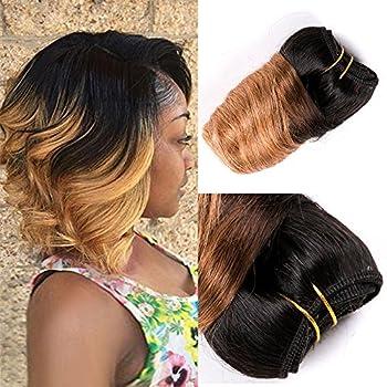 8 Inch 9A Loose wave 4 bundles Brazilian Virgin Human Hair 4 Bundles Human Hair Weaves Extensions Loose Deep Wave Hair Wefts  8inch,4pcs #T27