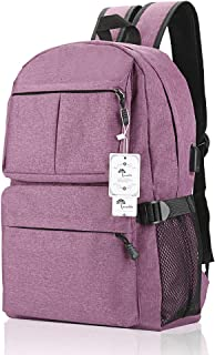Laptop Backpack, College Backpack 15 15.6 Inch Laptop Bag with USB Charging Port Light..