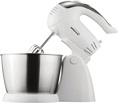 Brentwood Stand Mixer, 5-Speed + Turbo, White