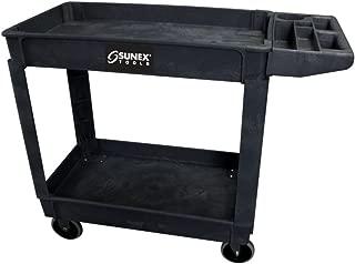 Standard Plastic Utility Cart - Black